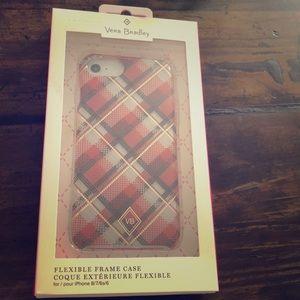 NWT Vera Bradley plaid iPhone 8 case